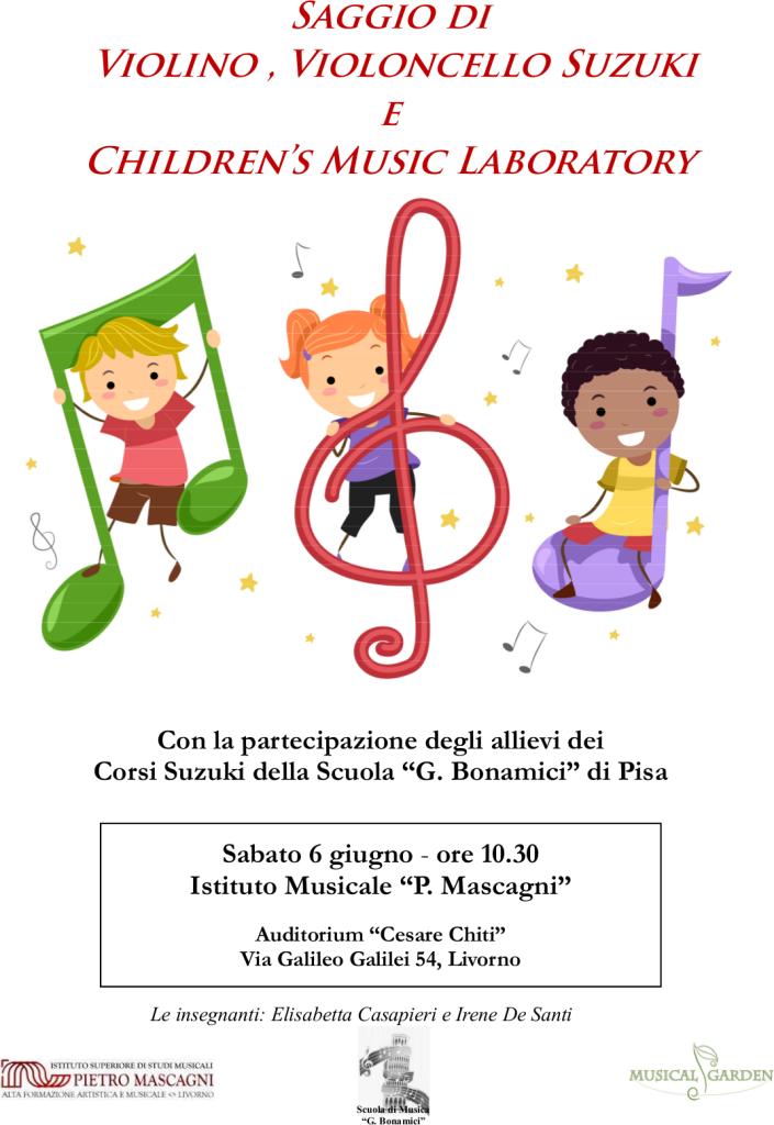 locandina saggio suzuki giugno  2015- Livorno