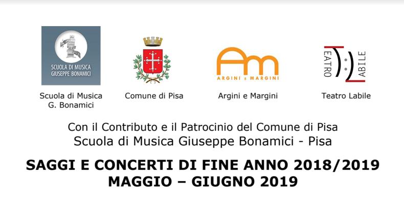 Saggi e concerti di fine anno 2018-19